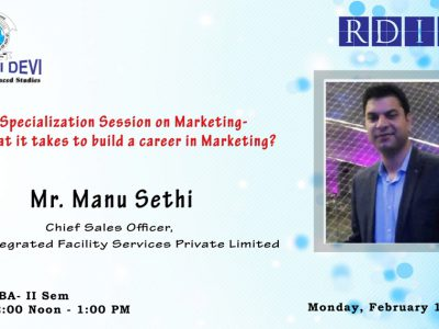 Specialization Session on Marketing on February 11, 2019